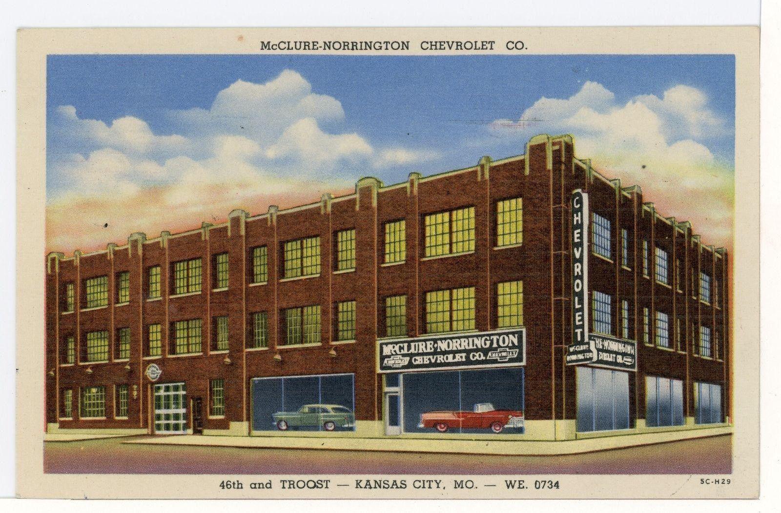 1956 Mcclure Norrington Chevrolet Co Dealership Kansas City Missouri Dealership Chevy Dealerships Chevrolet