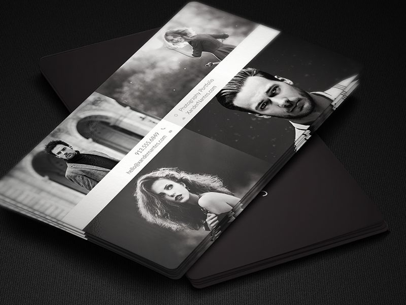 QuadPix - Business Card Photoshop PSD Template | Business Card ...