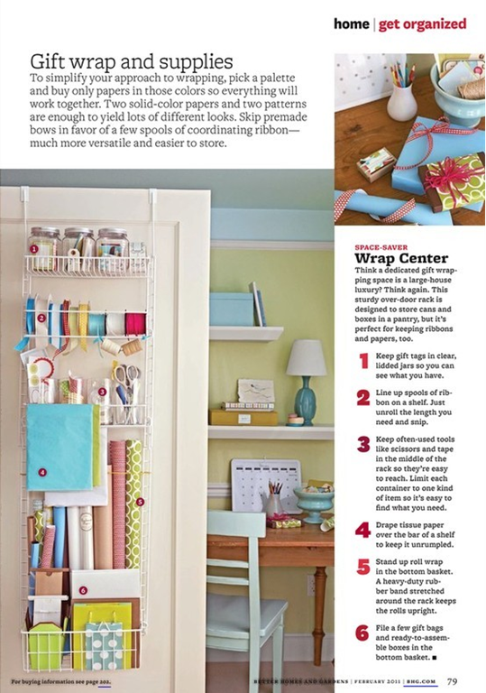 Ordinaire Closet Gift Wrap Station   Need To Order This Over The Door Rack