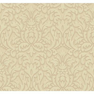 "York Wallcoverings Adele 27' x 27"" Scroll 3D Embossed Roll Wallpaper Color:"