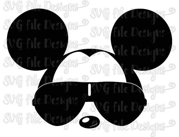 This Is A Digital Download Of A Mickey Sunglasses Cutting