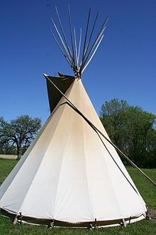 Tipi At A Living History Rendezvous