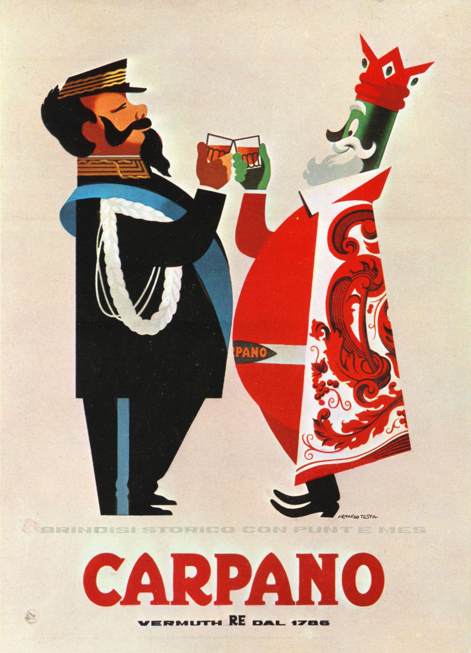 Poster design 1950 - Armando Testa Manifesto 1950