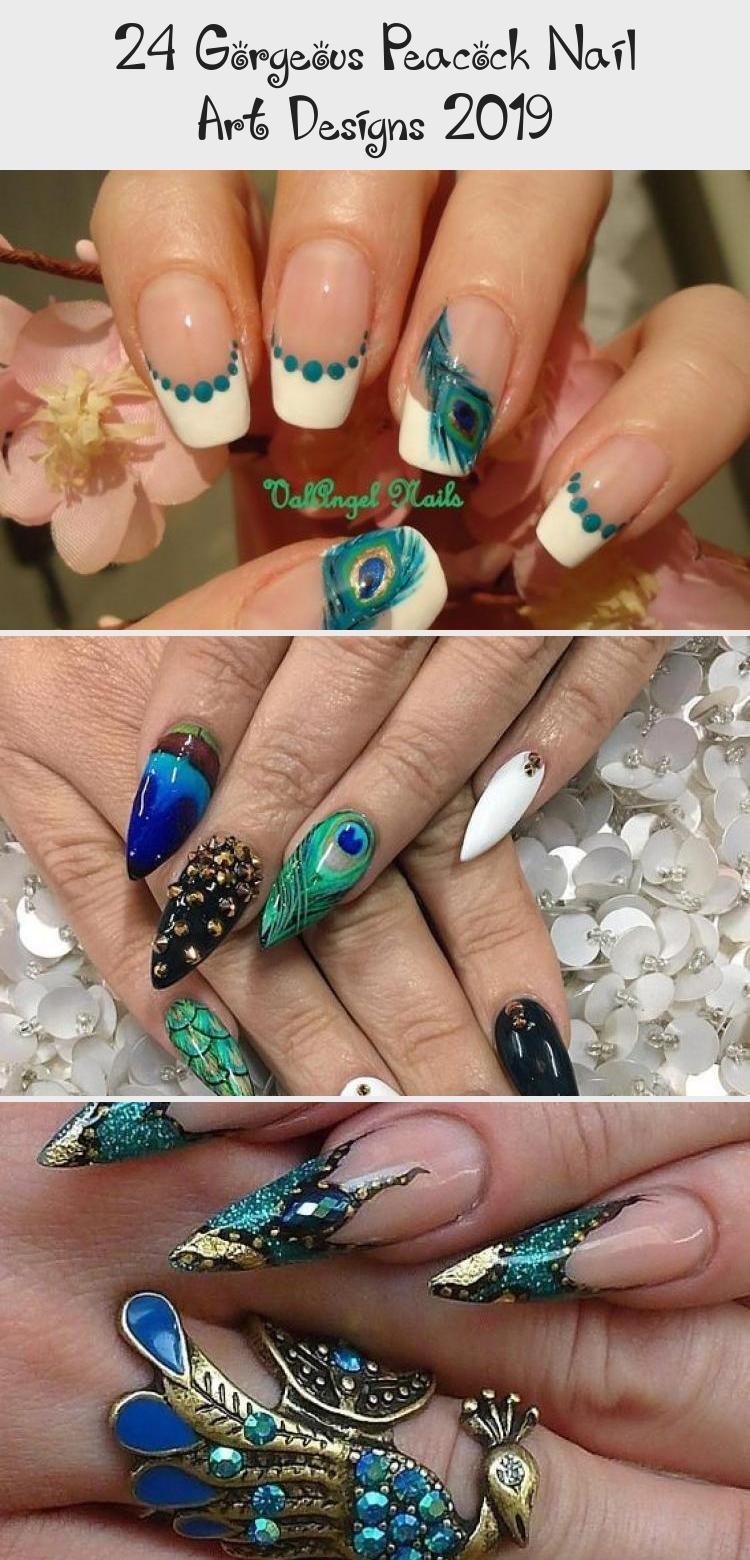 Photo of 24 Gorgeous Peacock Nail Art Designs 2019 – Nail Art