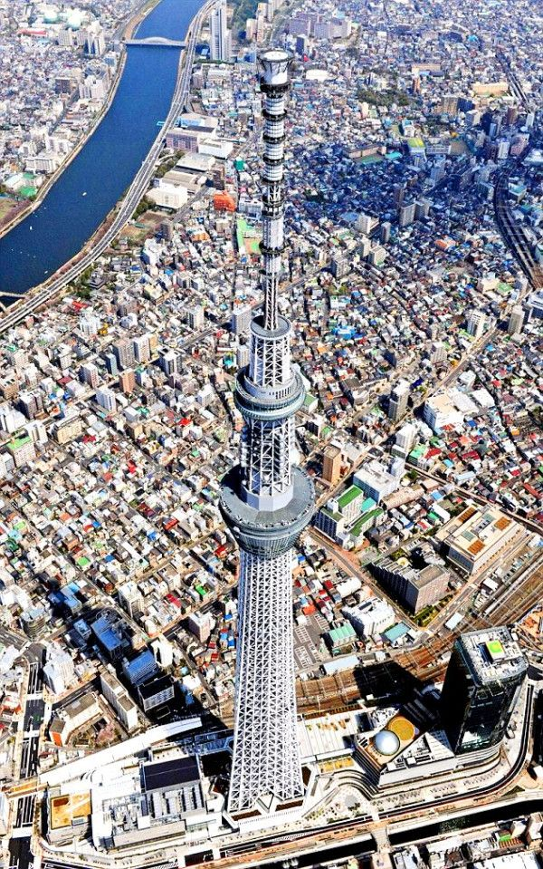 """NOW OPEN The world's tallest radio tower, the """"Tokyo Sky"""