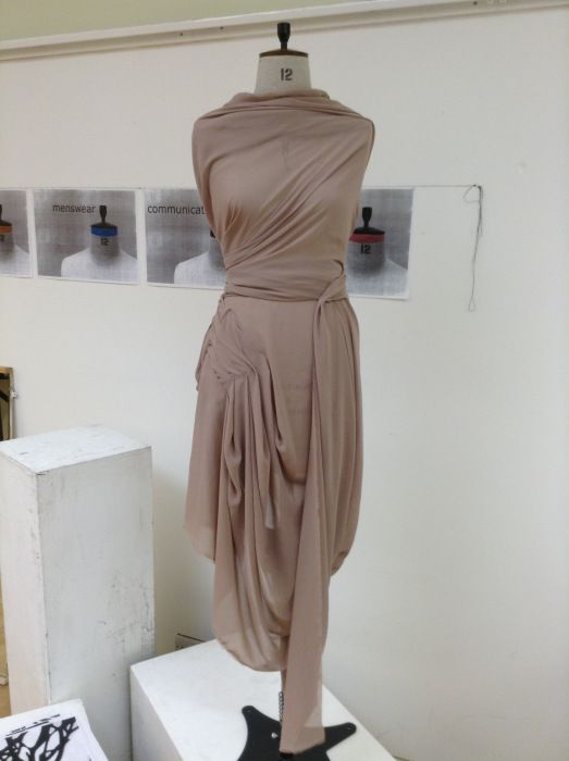 Draped dress design - fabric manipulation; draping ...