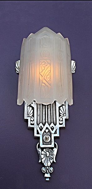 art deco sconce art deco lamps pinterest jugendstil. Black Bedroom Furniture Sets. Home Design Ideas