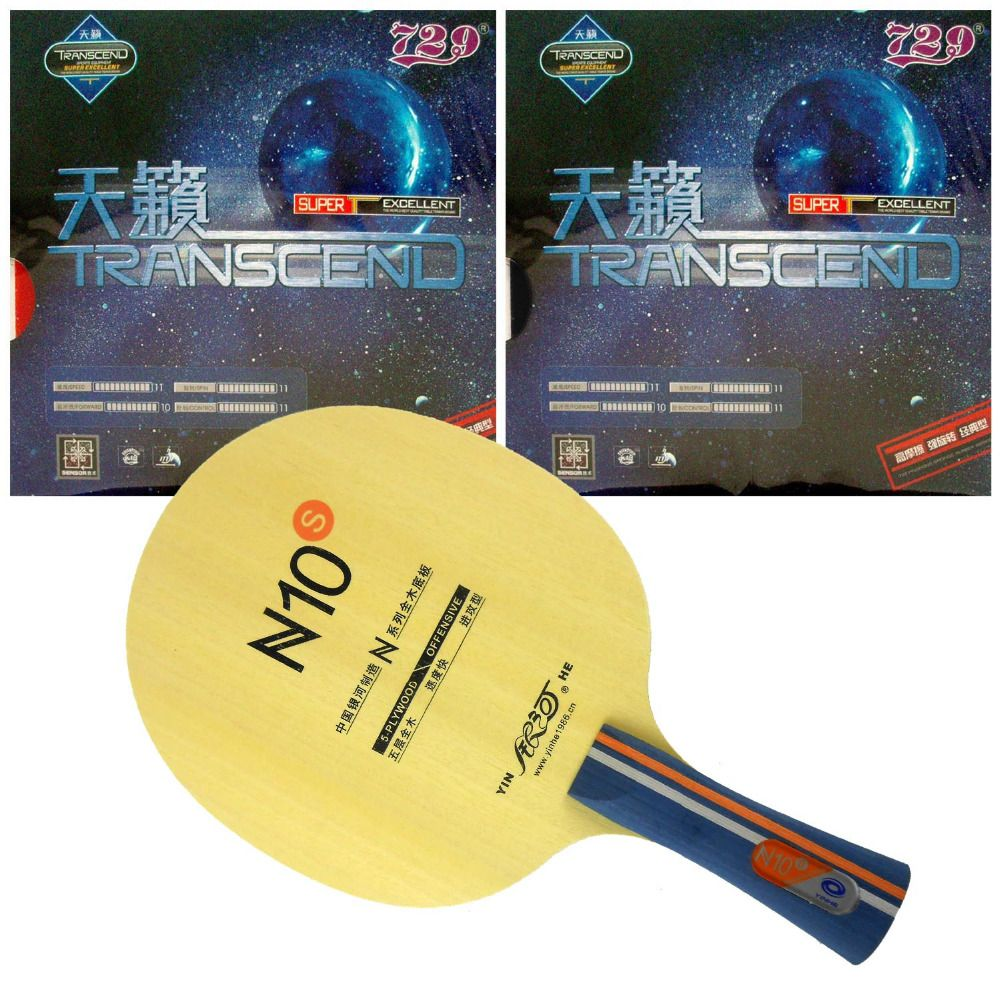 2x Friendship 729 Cream Transcend Table Tennis Rubber w//Sponge Pips-in,