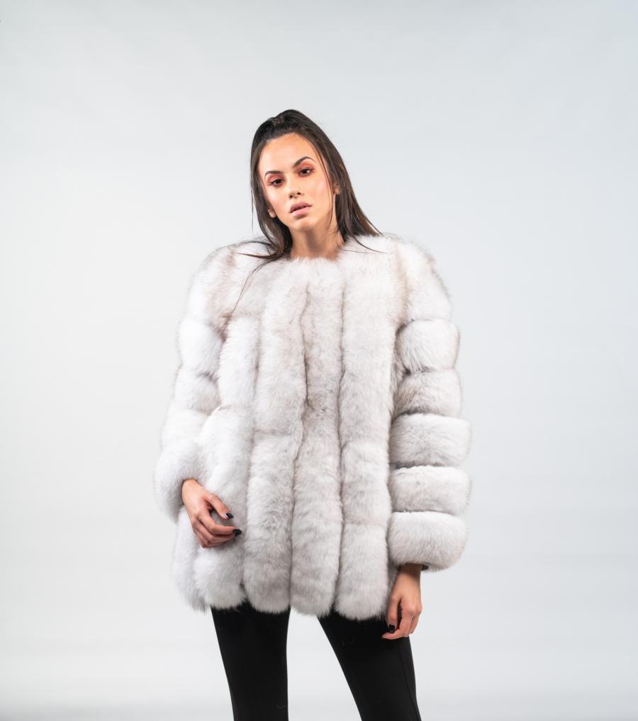 ef014e2bd0 White Fox Fur Jacket #white #fox #fur #jacket #real #style #realfur  #naturalfur #elegant #haute #luxury#chic #outfit #women #classy #online  #store