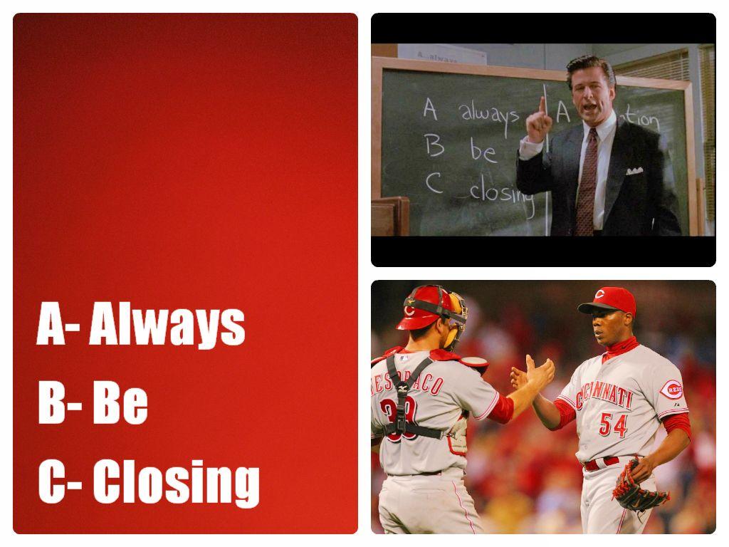Aroldis Chapman S Rule Of Thumb Abc Always Be Closing Cincinnati Reds Reds Baseball Cincinnati