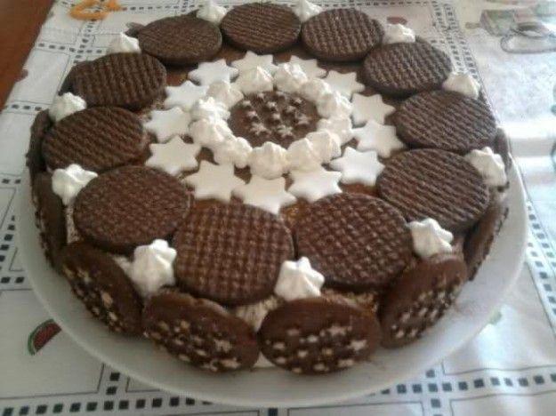 Torta pan di stelle con stelline di marshmallow   CHOCOLATE ADDICTED ... 85fb964833