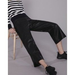Leather Wide Leg Pant