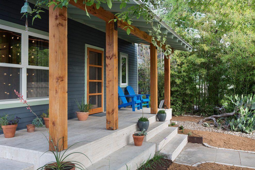 Concrete porch designs porch contemporary with wood ...