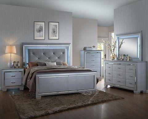 Led Lighting Bedroom Set B7100 Bedroom Furniture Sets Silver Bedroom Bedroom Set