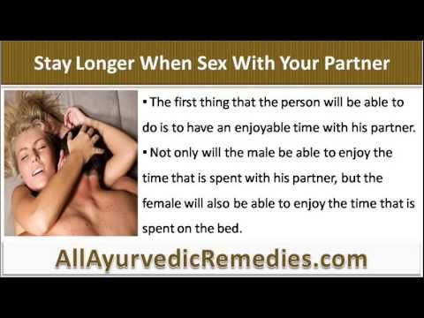 This video describes what should i do to stay longer when sex with my partner.