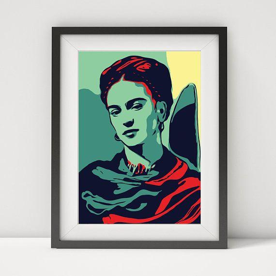 Frida Kahlo Frida Druck Plakat Kunst Frida Kahlo Kahlo