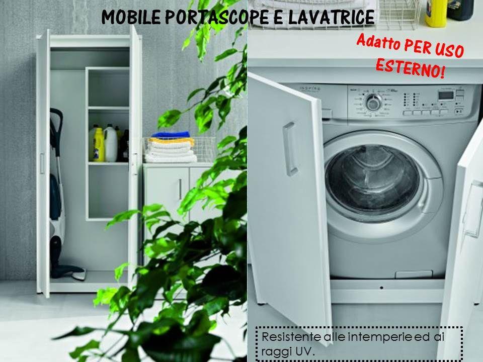 mobile porta lavatrice ed asciugatrice uso esterno | MOBILI ...