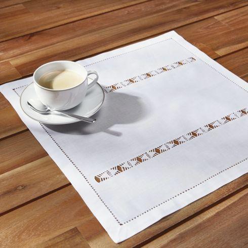 Romantisches Tischset in Weiß - eine elegante Ergänzung für Ihren Tisch