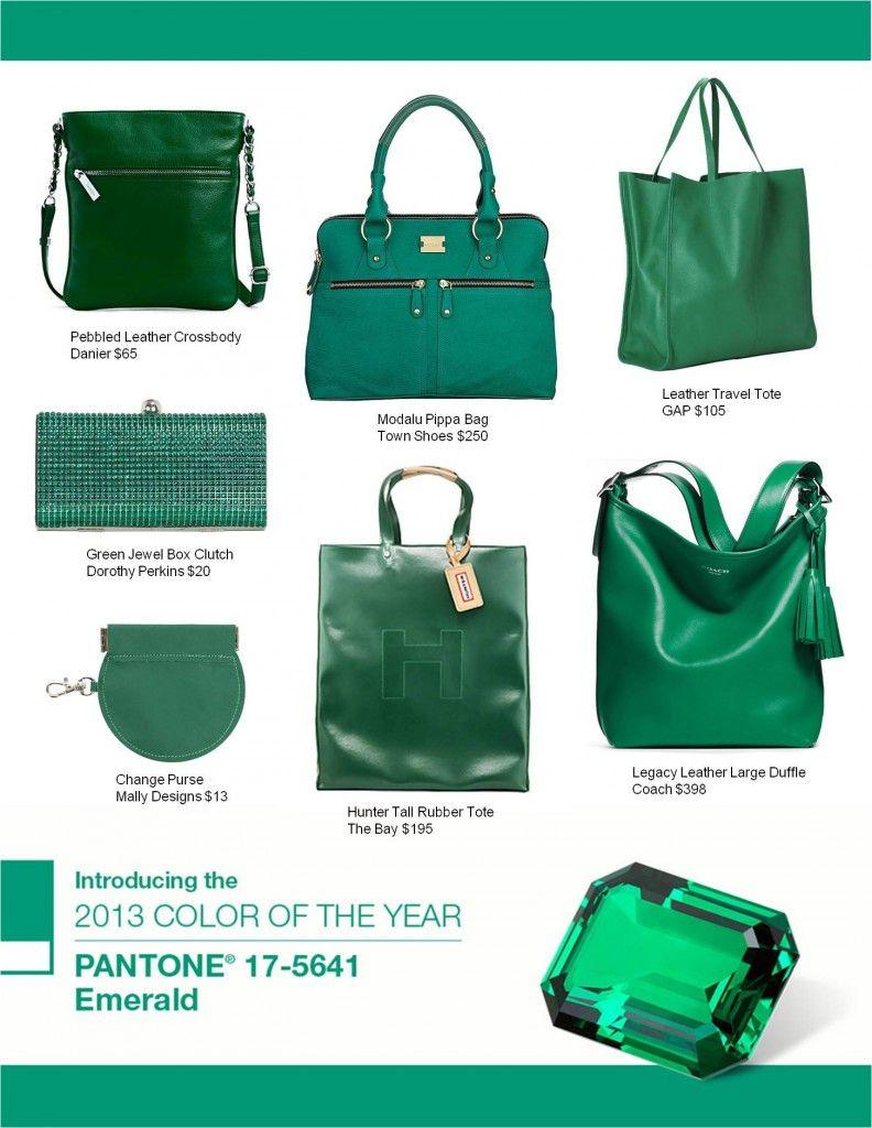 f43ede5243 Add a splash of green to your wardrobe with an Emerald Handbag ...