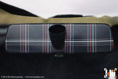 VW Interior Rear View Mirror Vinyl Wrap - Mk5 Plaid