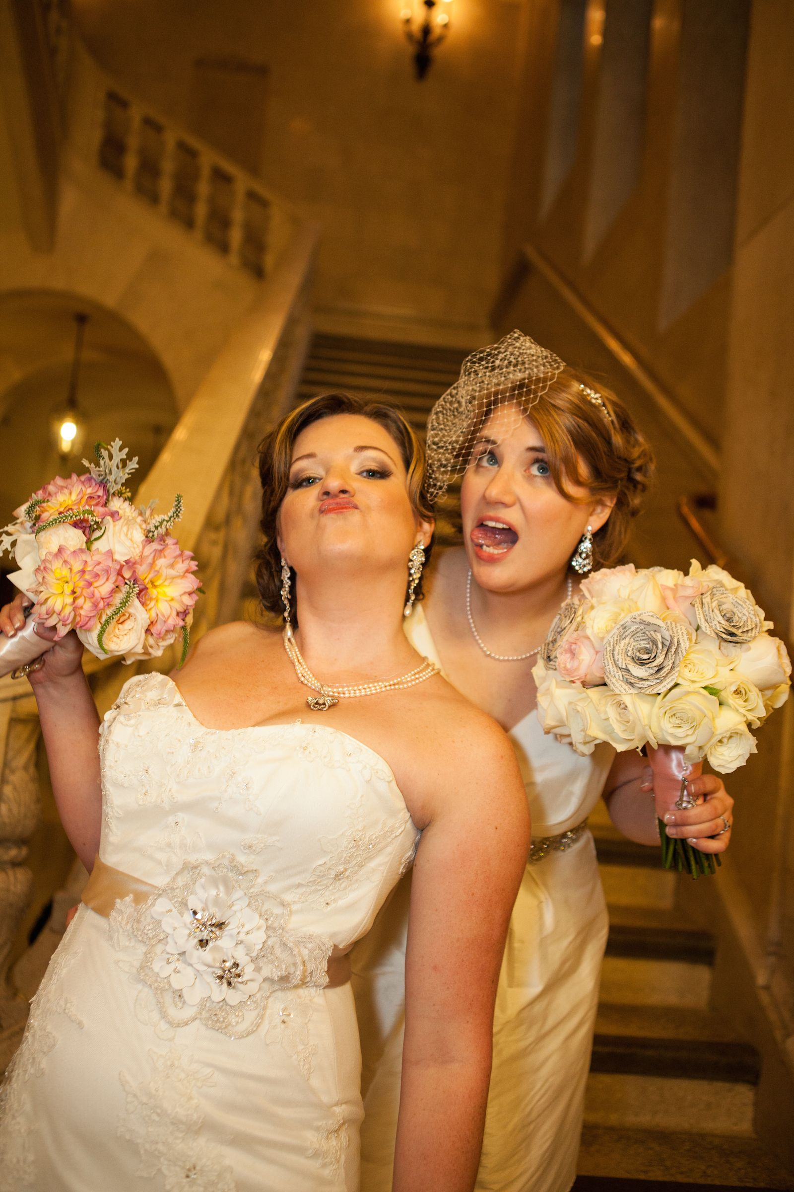 Corinne lexi silly wedding portrait of two crazy brides lesbian corinne lexi silly wedding portrait of two crazy brides lesbian wedding photo by in ombrellifo Choice Image