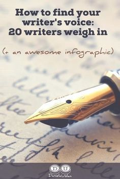 Read what 20 writers have to say about finding your writer's voice.#writingtips #amwriting