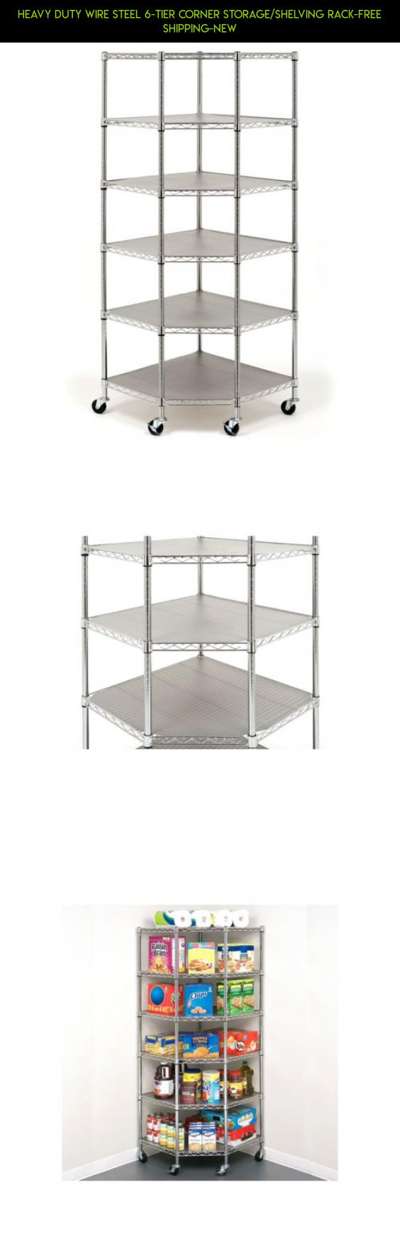 Heavy Duty Wire Steel 6-Tier Corner Storage/Shelving Rack-FREE ...