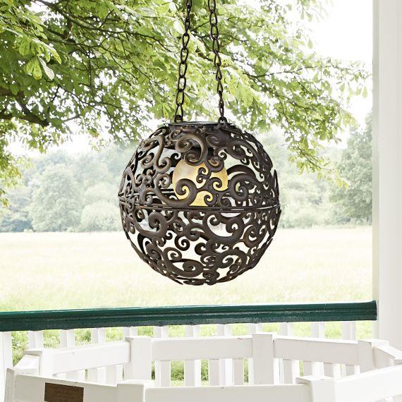 Solarleuchte Moon, zum Hängen, Antik-Look Gartensaison Pinterest - solarleuchten garten antik