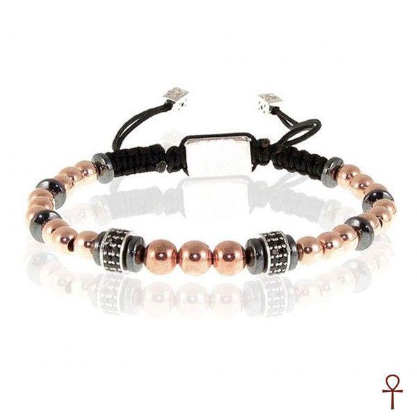 KTT Shiny Balls Seth Rose Beaded Zircon Gemstone Bracelet #men #menfashion #bracelet #rose #gemstone #shiny
