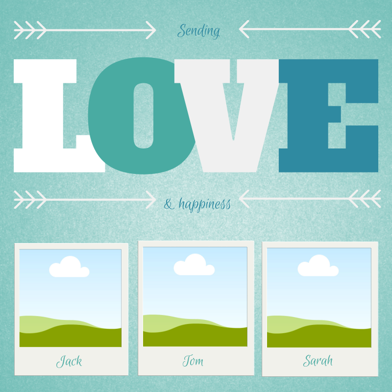 Sending Love And Happiness Click Here To Remix This Design Https Www Canva Com Design Daafbew7sec Remix Inspiracao