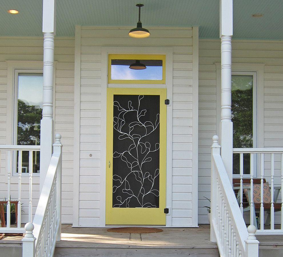 15 Stunning Midcentury Entry Design Custom Screen Doors