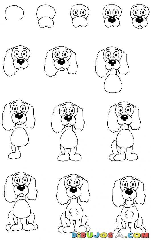 Como Aprender A Dibujar Un Perrito Por Pasos Para Pintar Y Colorear ...