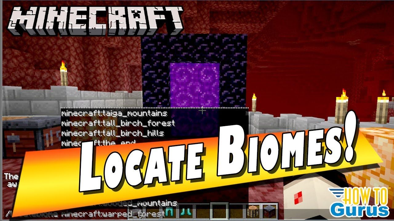 How To Find Biomes In Minecraft Java 1 16 Creative Mode The Locatebiom In 2020 Minecraft Biomes Minecraft Tutorial