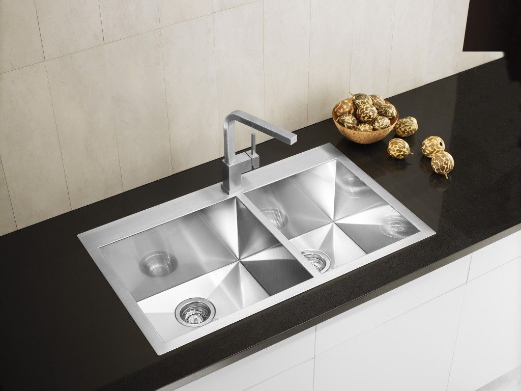 contemporary kitchen faucets stainless steel  interior  home  - double bowl stainless steel drop in kchen sink wh modern contemporarykitchen design ideas