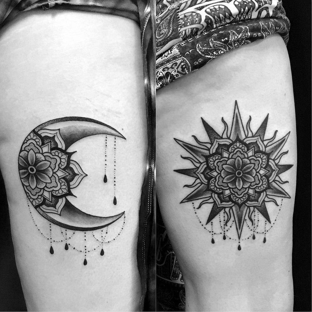 Image Result For Sun And Moon Matching Tattoo Sistertattooideas