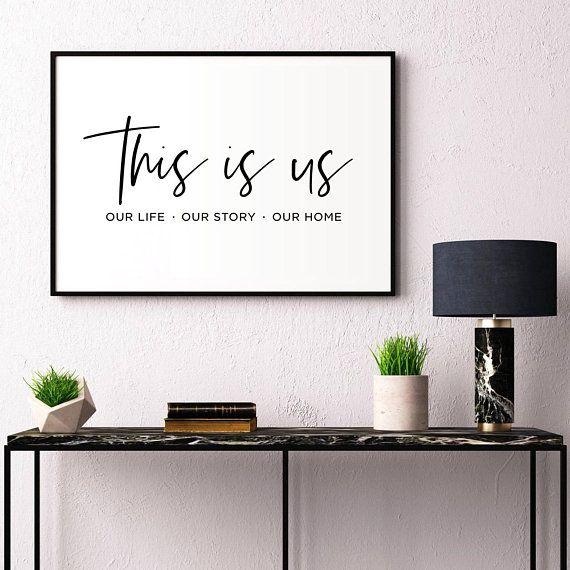Dies ist uns druckbare, Familie Zeichen, Wohnkultur, Housewarminggeschenk, Wohnzimmer Dekor, Familie Zitat, Apartment-Dekor, Hochzeitsgeschenk