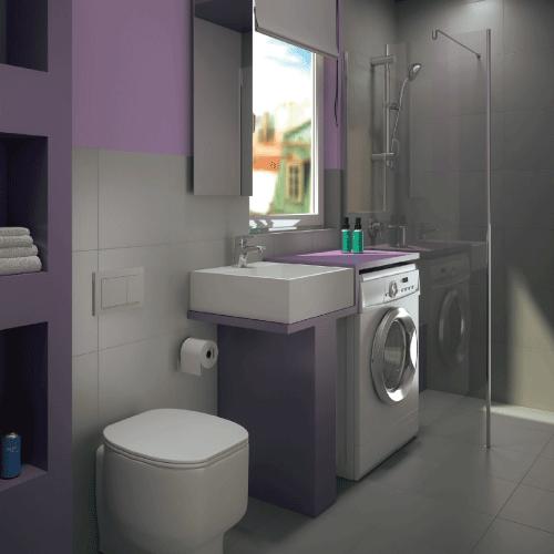 Bagno con lavanderia. | Progetta il tuo Bagno | Pinterest ...