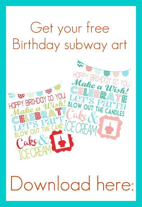 Free Birthday Printable I Heart Nap Time | I Heart Nap Time - Easy recipes, DIY crafts, Homemaking