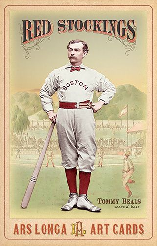Tommy Beals Boston Red Stockings 1874 Art By Ars Longa Art Cards