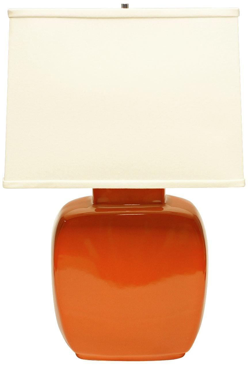 Haeger Potteries Paprika Square Ceramic Table Lamp U5553 Lamps Plus Ceramic Table Lamps Lamp Ceramic Lamp Base