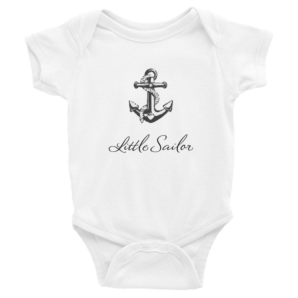 Little Sailor Baby Bodysuit Sailing Baby Bodysuit Anchor ...