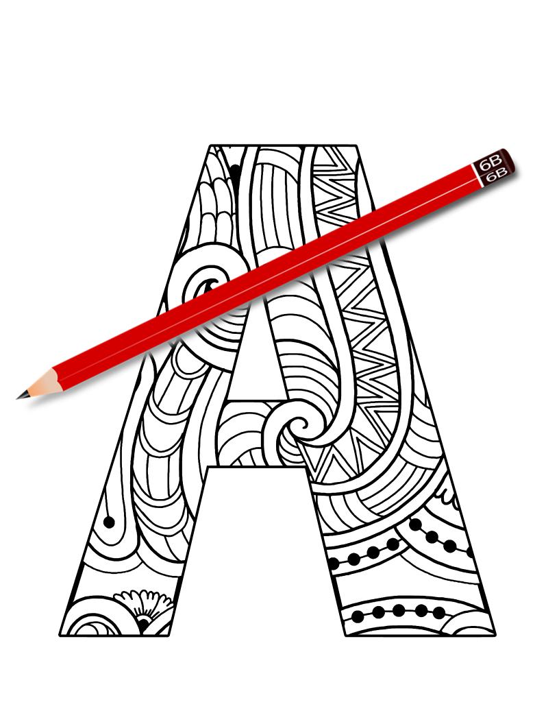 A Mandala Letter A Alphabet Coloring Book Mandala Coloring Books Coloring Books Alphabet Coloring