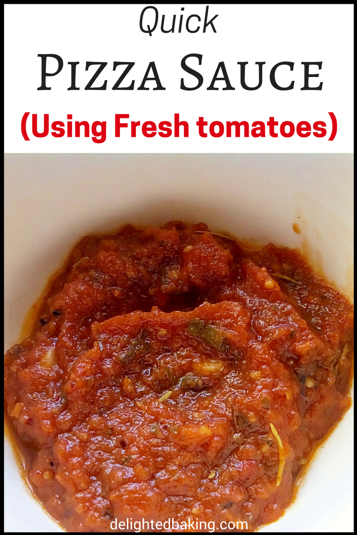 homemade pizza sauce from scratch rețetă no bake lunch dinner
