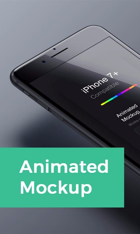 Animated Iphone 7 Mockup A Looped Animated Mockup Of A Jet Black Iphone 7 Psd File Export As Gif Measuring 1920 X 1280 Px With Smart Layer Find Out More Ab