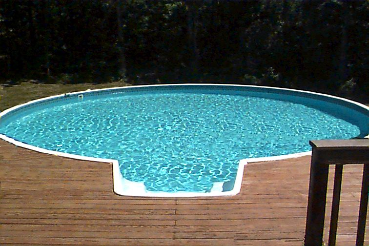 Above Ground Pool With Integrated Steps Above Ground Pool Stairs In Ground Pools Above Ground Pool