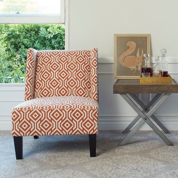 Incroyable $294.99 Angelo:HOME Barton Lorin Square Autumn Orange Armless Wingback Chair  | Overstock.com