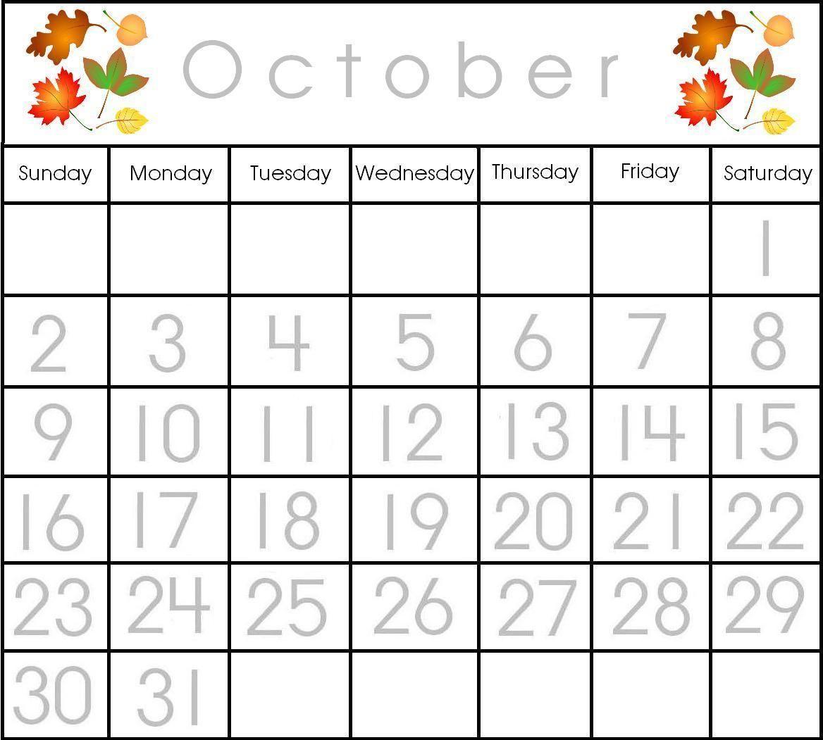 The Mailbox October Calendar