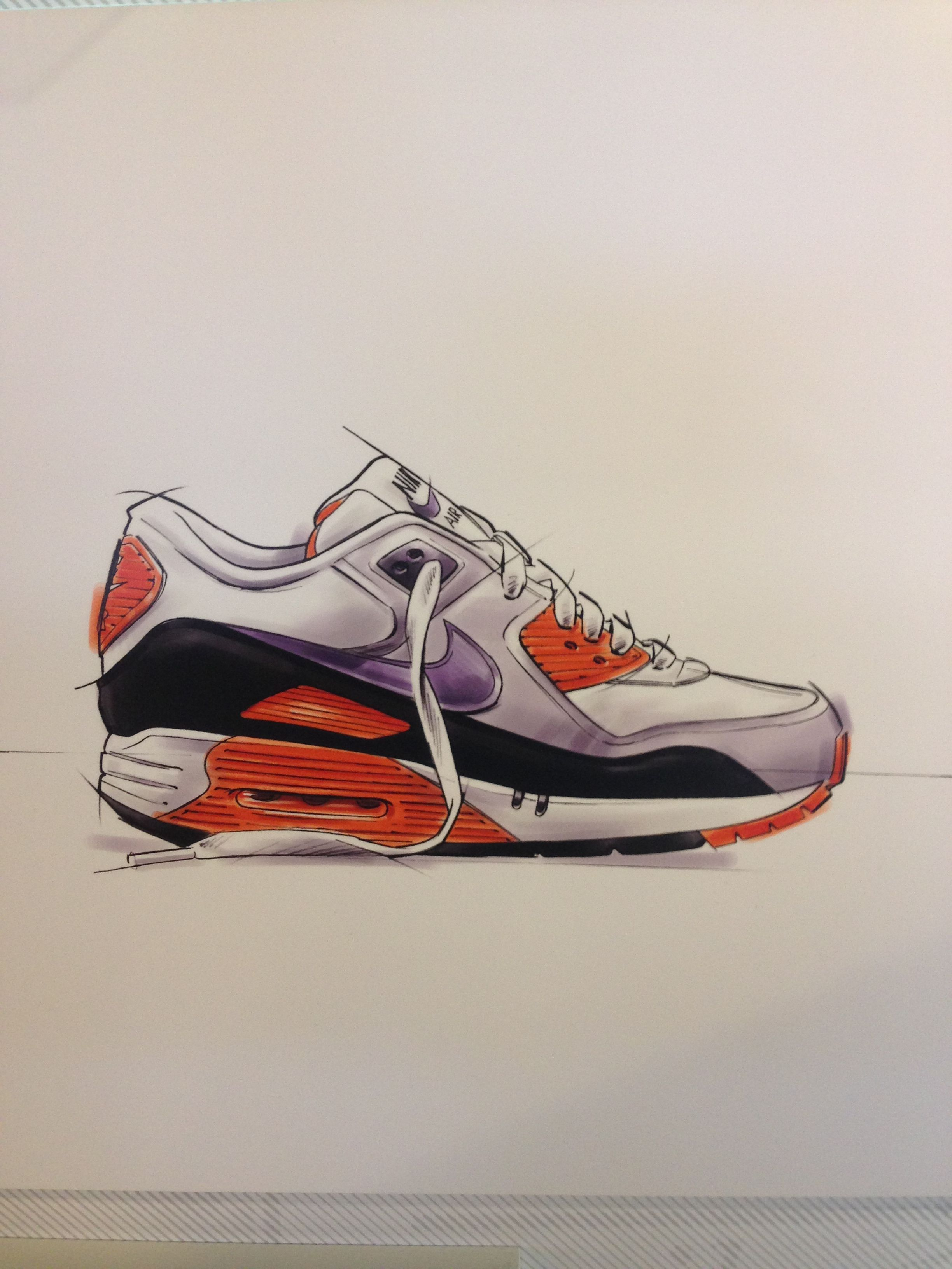 944af6f3428 Air Max 90 drawing