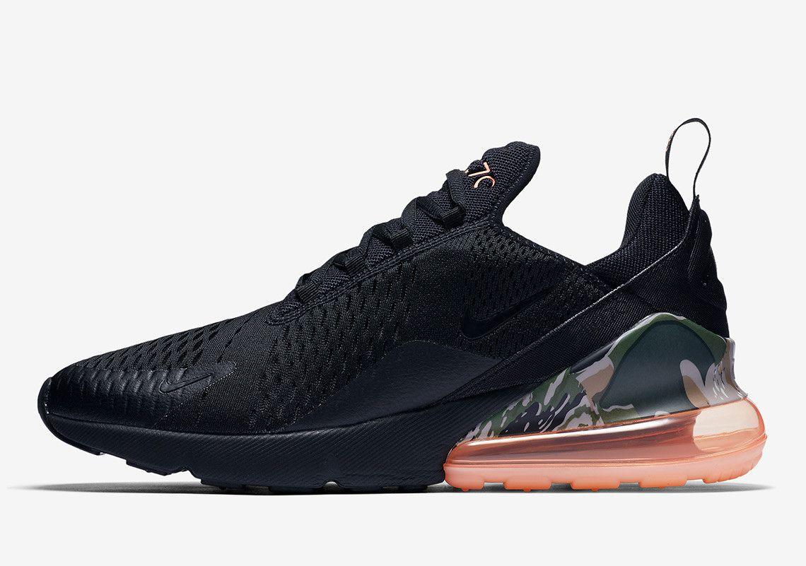 Nike Air Max 270 Camo Print Heel Bubble AQ6239-001 Coming Soon