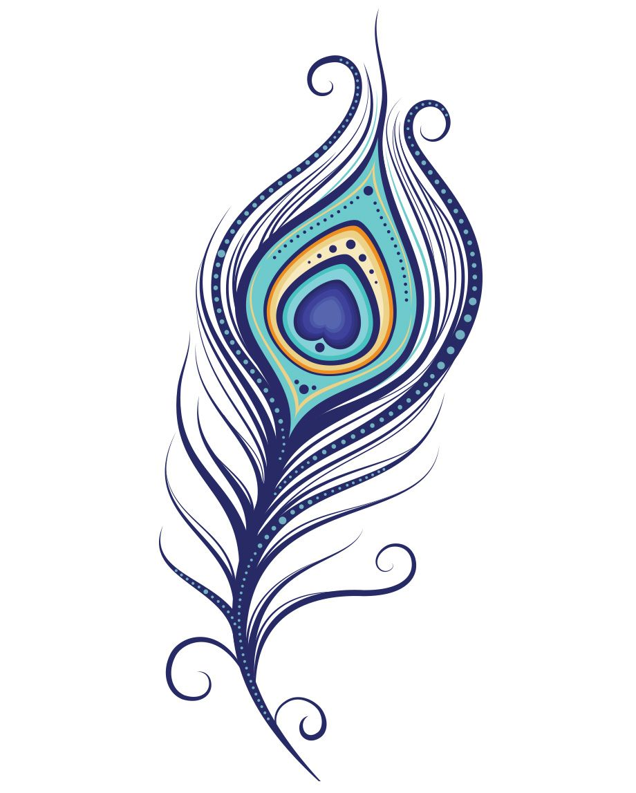 Plume De Paon Peacock Feather Tattoo Feather Tattoo Design Feather Drawing